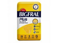 Fralda Geriátrica Bigfral Plus Tamanho G Com 8 Unidades