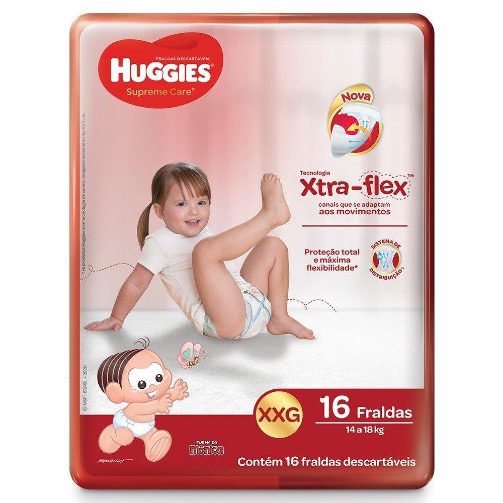 Fralda Huggies Supreme Care XXG Com 16 Unidades