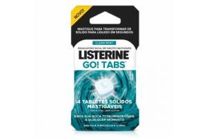 Enxaguatório Bucal Listerine Go Tabs Com 4 Tabletes Mastigáveis