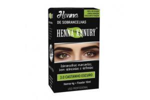 Henna Para Sobrancelhas Knnury 3.0 Castanho Escuro
