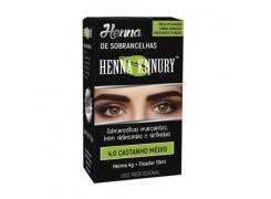 Henna Para Sobrancelhas Knnury 4.0 Castanho Medio