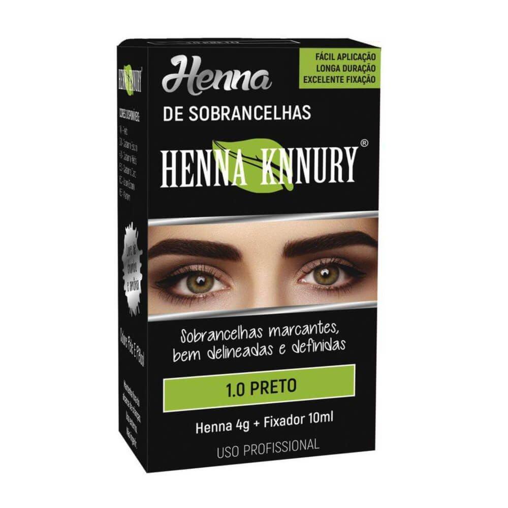 Henna Para Sobrancelhas Knnury 1.0 Preto