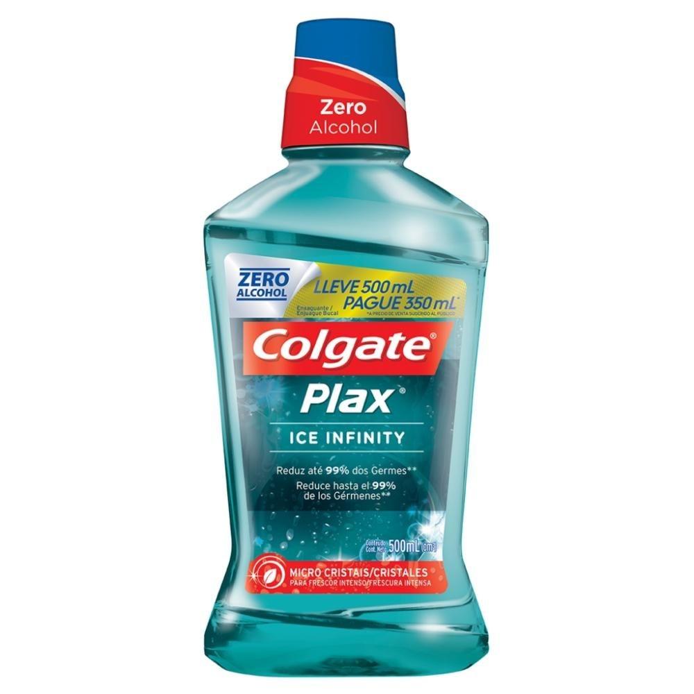 Enxaguante Bucal Colgate Plax Ice Infinity Leve 500ml Pague 350ml
