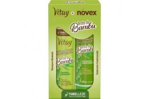 Kit Vitay + Novex Shampoo e Condicionador Broto de Bambu 300ml