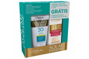 Kit Protetor Solar L'Oréal Paris Supreme Protect 4 FPS 30 120ml Grátis Protetor Solar Facial Antirrugas FPS 30 25g