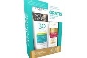 Kit Protetor Solar L'Oréal Paris Supreme Protect 4 FPS 30 200ml Grátis Protetor Solar Facial Antirrugas FPS 30 25g
