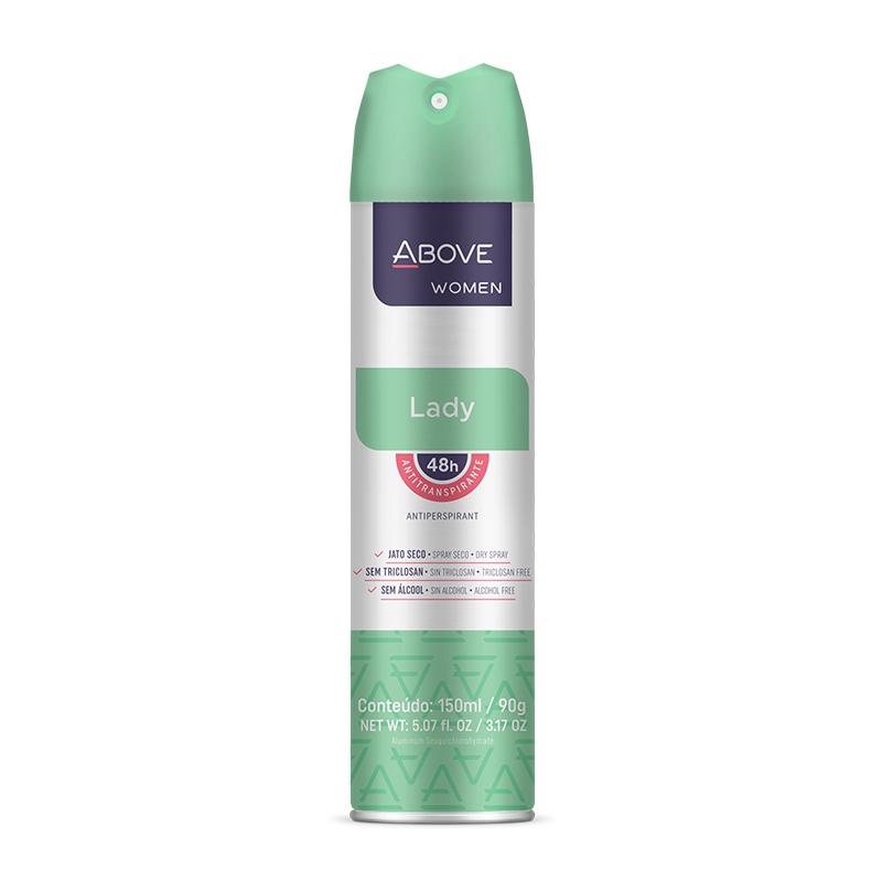 Desodorante Aerosol Above Lady Women 150ml