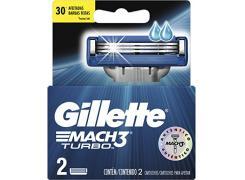 Lâminas de Barbear Gillette Mach3 Turbo Com 2 Unidades