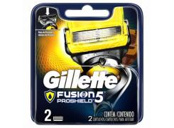 Lâminas de Barbear Gillette Fusion Proshield 5 Com 2 Unidades
