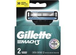 Lâminas de Barbear Gillette Mach3 Com 2 Unidades