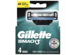 Lâminas de Barbear Gillette Mach3 Com 4 Unidades