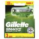 Lâminas de Barbear Gillette Mach3 Sensitive Leve 3 Pague 2