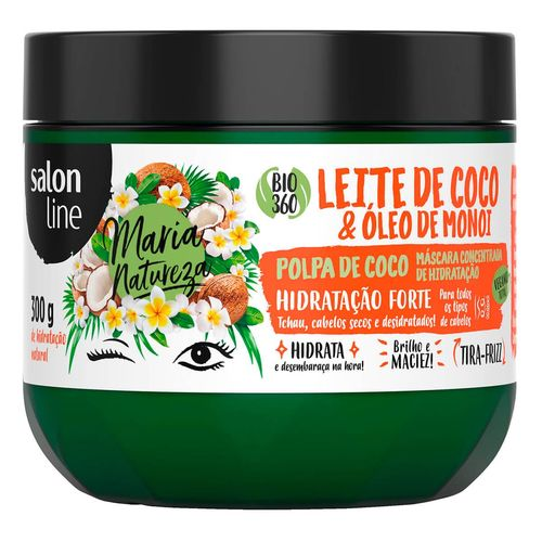 Máscara Salon Line Maria Natureza Leite de Coco 300g