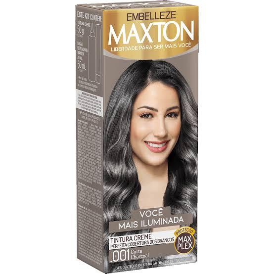 Tintura Maxton .001 Cinza Charcoal