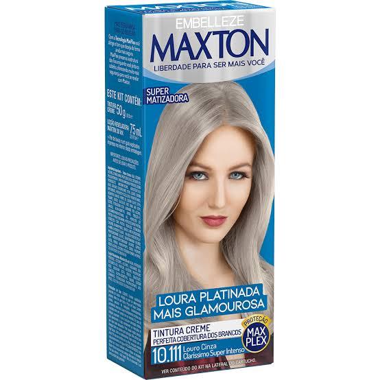 Tintura Maxton 10.111 Louro Cinza Claríssimo Super Intenso