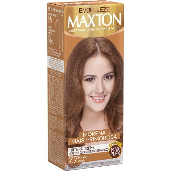 Tintura Maxton 7.7 Marrom Avelã