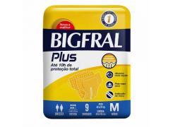 Fralda Geriátrica Bigfral Plus Tamanho M Com 9 Unidades