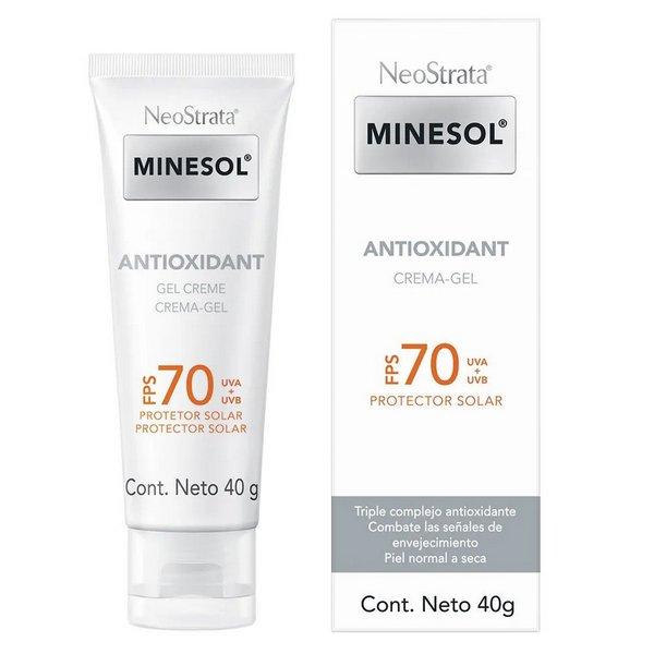 Protetor Solar Neostrata Minesol Antioxidant Gel Creme FPS 70 40g