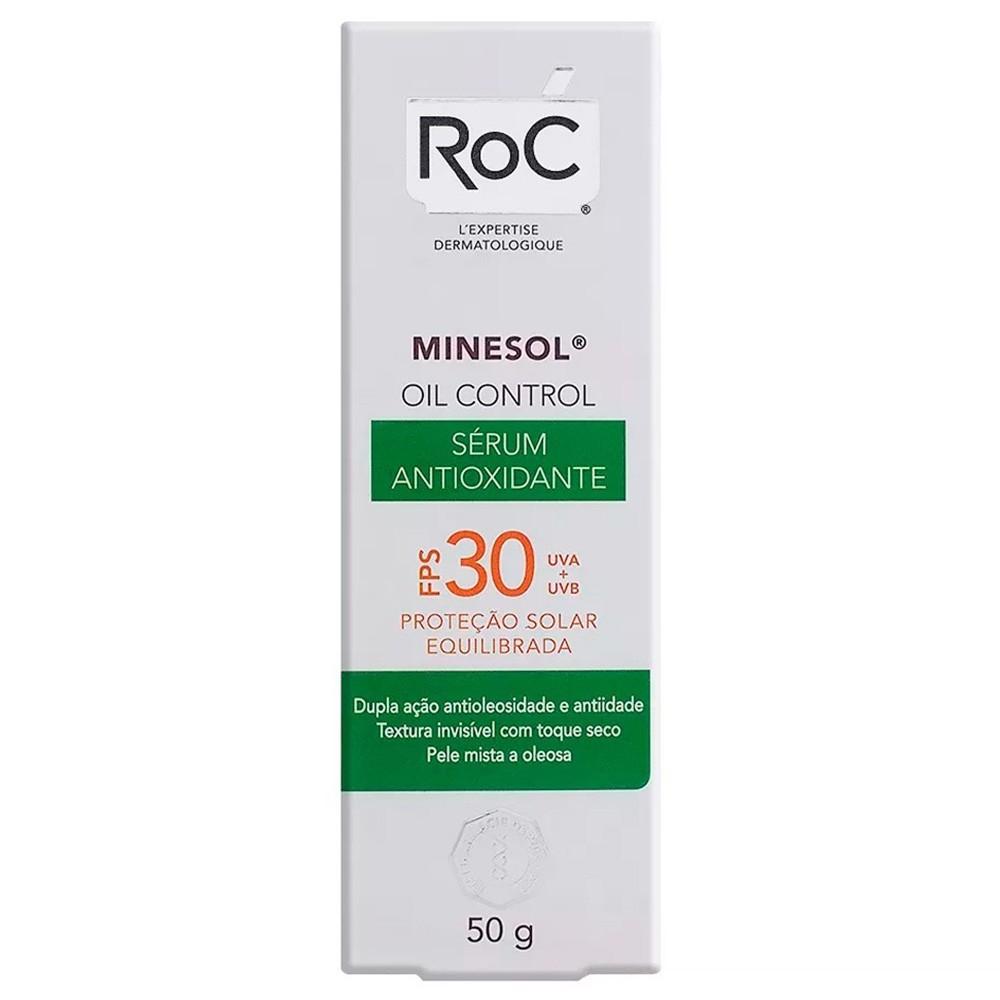 Protetor Solar Roc Minesol Oil Control Sérum Antioxidante FPS 30 50g
