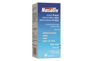 Nasaliv Solução Oral Sabor Cereja Contém 60ml