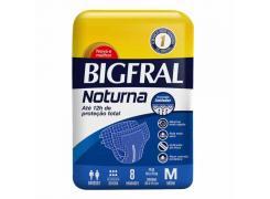 Fralda Geriátrica Bigfral Noturna Tamanho M Com 8 Unidades