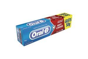 Creme Dental Oral B Menta Suave Anti Cáries 150 gramas