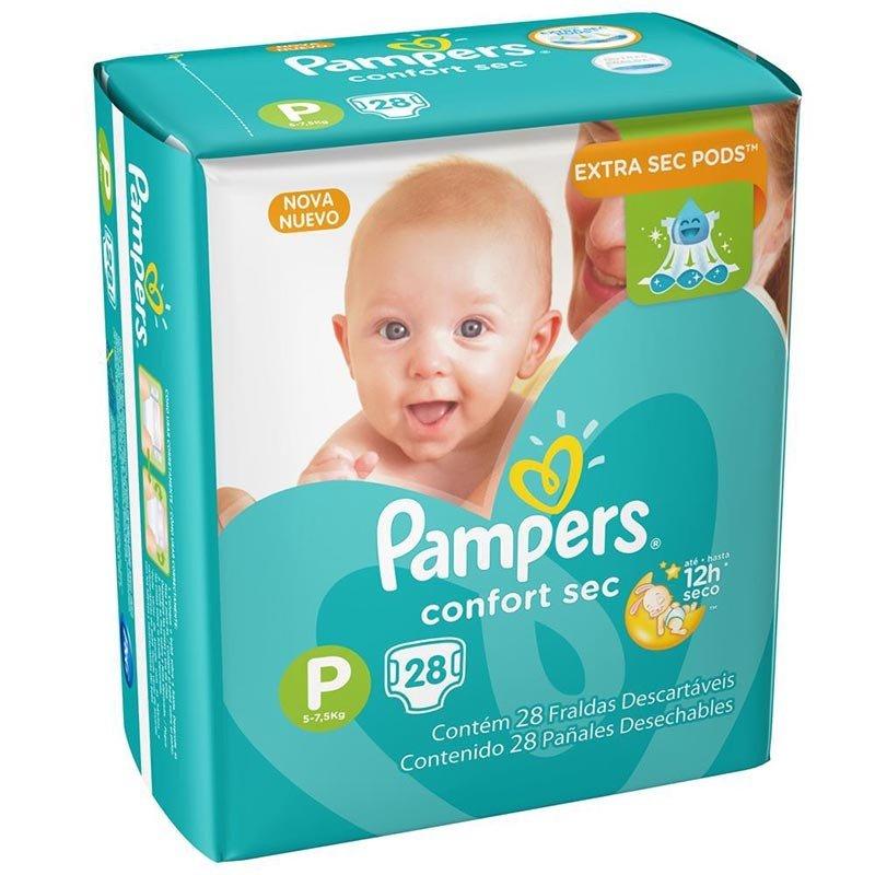 Fralda Pampers Confort Sec Tamanho P Com 28 Unidades