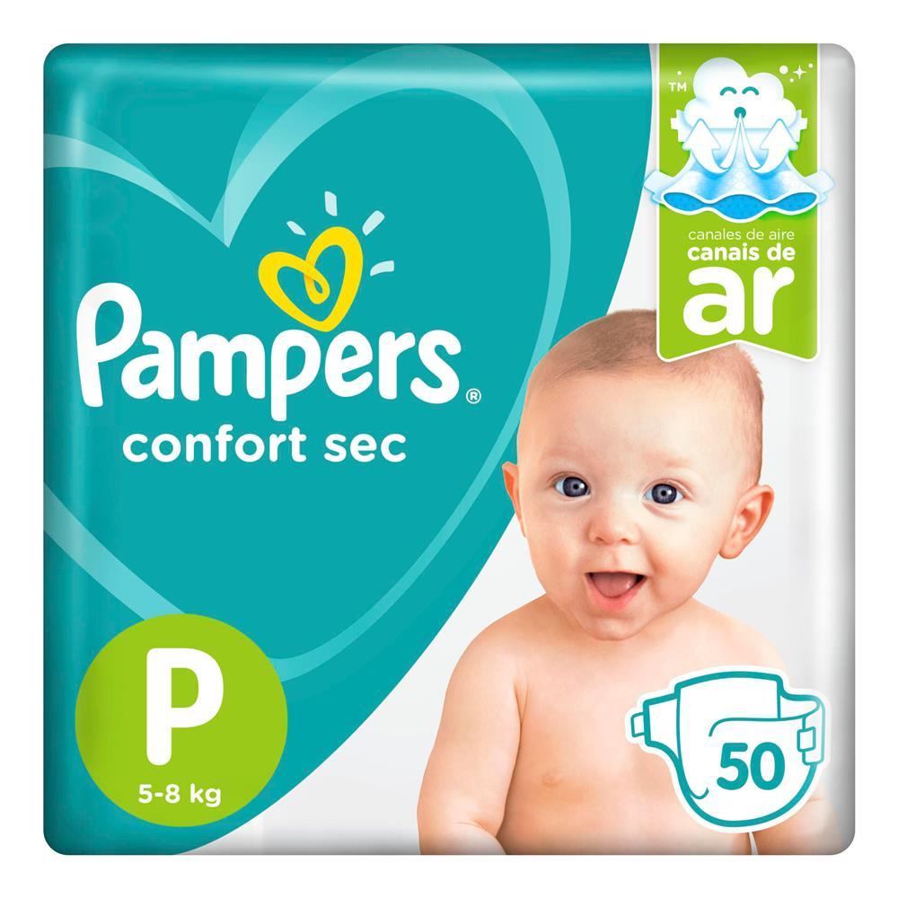 Fralda Pampers Confort Sec Tamanho P Com 50 Unidades