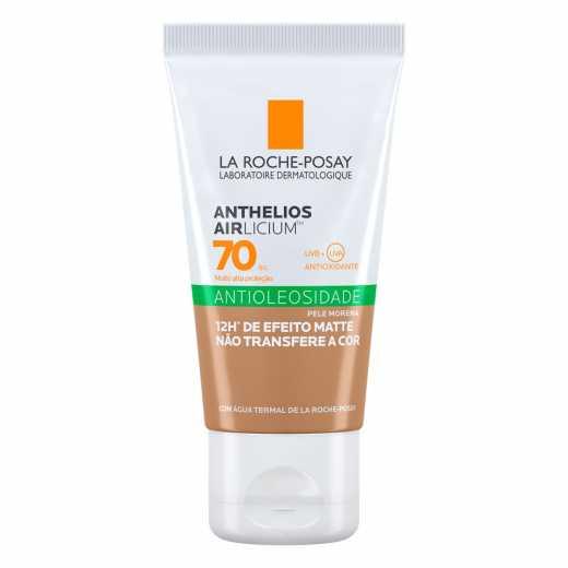 Protetor Solar Facial Anthelios Airlicium Antioleosidade Pele Morena FPS 70 40g