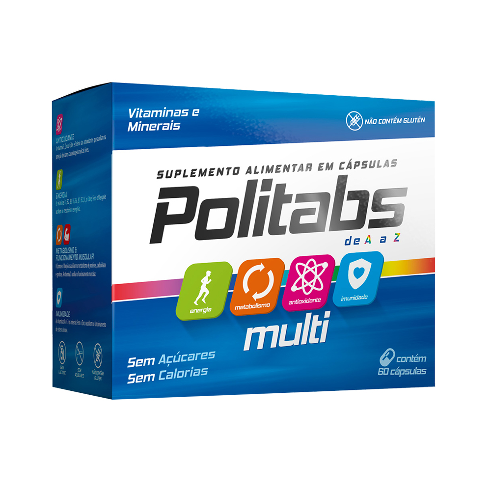 Politabs Multi Com 60 Cápsulas