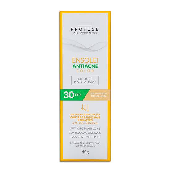 Protetor Solar Facial Profuse Ensolei Gel Creme Antiacne Color FPS 30 40g