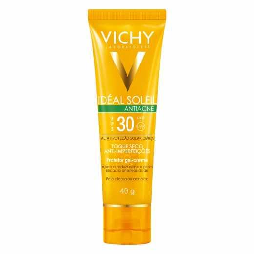 Protetor Solar Facial Vichy Idéal Soleil Antiacne FPS 30 40g