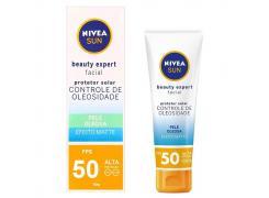 Protetor Solar Facial Nivea Sun Beauty Expert Pele Oleosa FPS 50 50g