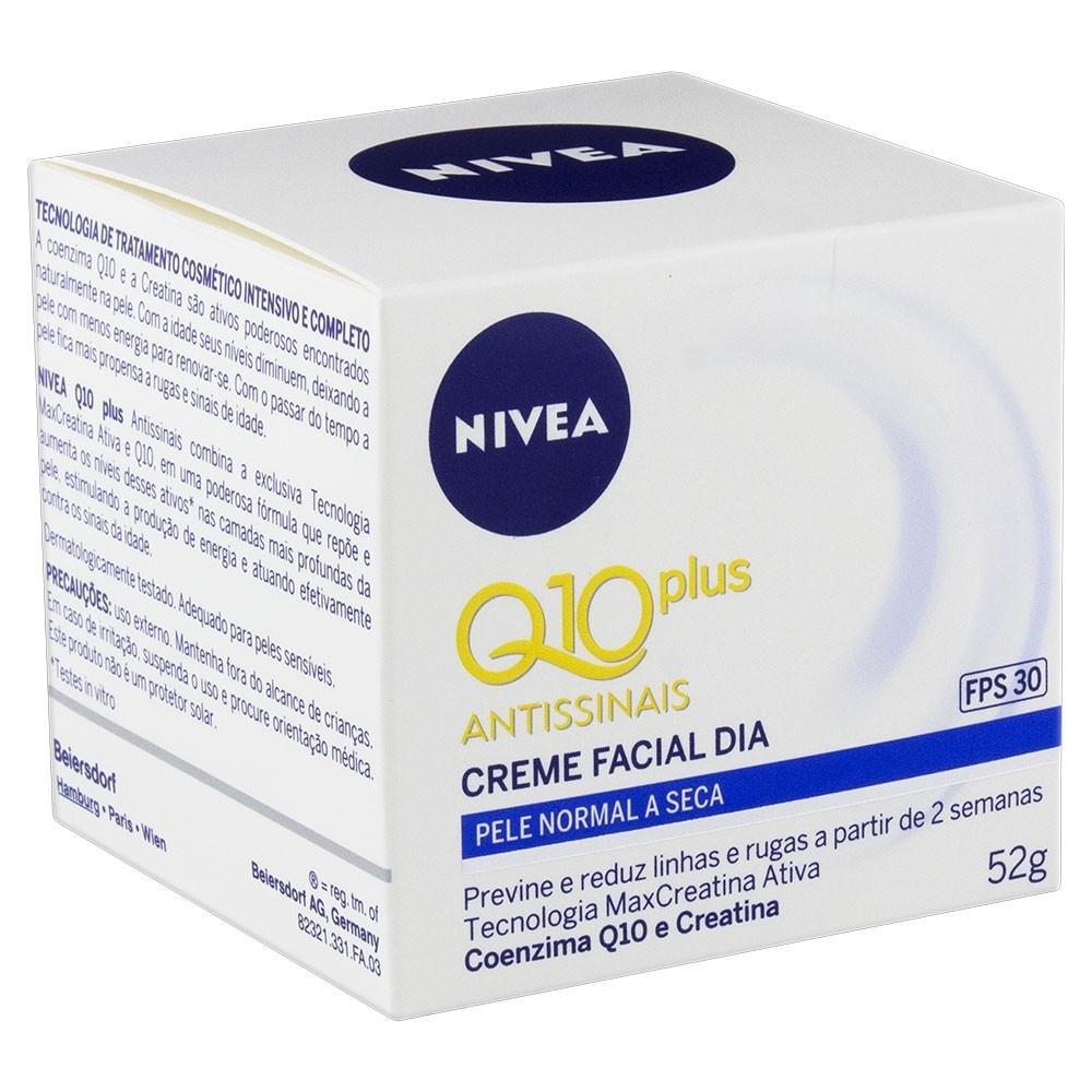 Nivea Q10 Plus Antissinais Creme Facial Dia FPS 30 52g