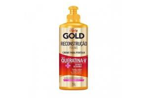 Creme Para Pentear Niely Gold Reconstrução Potente Max Queratina-V + Extrato de Bambu 250g