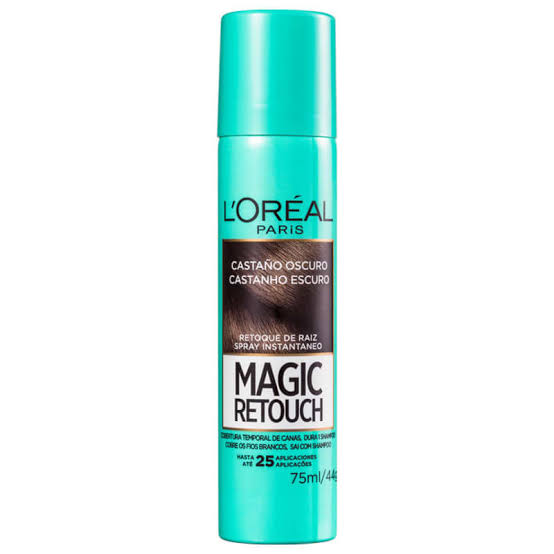 Retoque de Raiz Spray Magic Retouch L'Oréal Paris Castanho Escuro 75ml