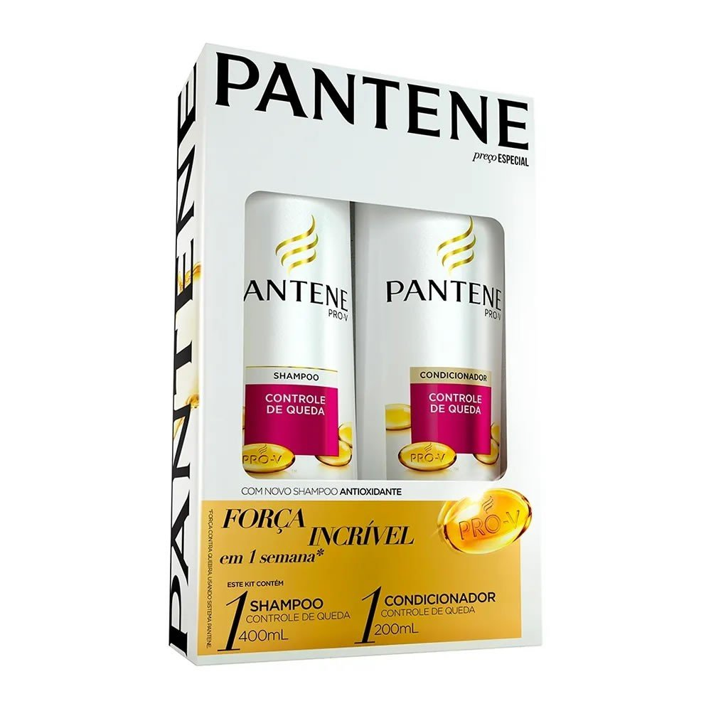 Kit Pantene Controle de Queda Shampoo 400ml + Condicionador 175ml