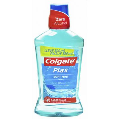 Enxaguante Bucal Colgate Plax Soft Mint Leve 500ml Pague 350ml