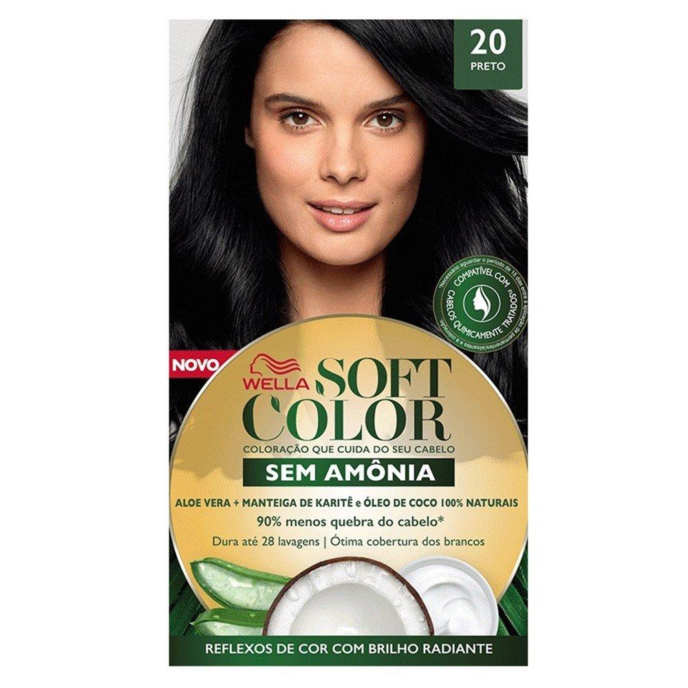 Tonalizante Soft Color 20 Preto