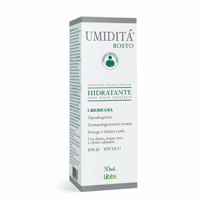 Gel Creme Hidratante Umiditá Rosto FPS 25 50ml